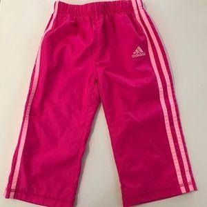 PINK adidas pants TODDLER 2T GIRLS NWOT